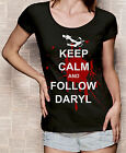 The Walking Dead T-Shirt mit Print Keep Calm Daryl Dixon Druck schwarz weiß S-XL