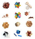 12Styles Wooden Unlock Puzzle Key Classical Wood Kong Ming Lock Education Game