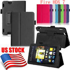 FOLIO LEATHER CASE STAND COVER SHELL FOR AMAZON KINDLE FIRE HDX 7 INCH US STOCK