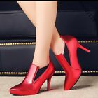 OL Lady Pointy Toe Thick High Heel Plus Size Pumps Shoes Work Simple Shoes Date