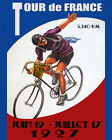 1927 Tour de France Fine World France Bicycle Bike Vintage Poster Repo FREE S/H