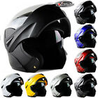 7 Colors DOT Motorcycle Racing Bike Helmet Full Face Guard Dual Visor Flip Up