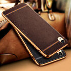 Plating Ultra Slim TPU Leather Soft Phone Back Case Cover For OPPO R7S R9 Plus