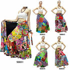Skirt SDB1-5 Cotton Thailand Unique Patchwork Long Wrap Sarong Boho Gypsy Hippie