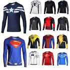 Men Marvel Costumes Super heros Batman The Avengers Long Sleeve T-shirts Cycling