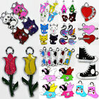 Lot 5Pcs Cute Enamel Single Side Beautiful Charm Pendants U Pick DIY Crafts