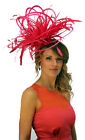 NEW Large Hot Pink Fuschia/Fascinator Hat/change/add extra colours wedding/races