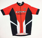 2017 Poly CYCLING SHORT SLEEVE JERSEY (Black /Red) Made in Italy by GSG