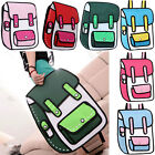 Pragmatic 3D Jump Style 2D Drawing From Cartoon Paper Bag Nylon Comic Backpack