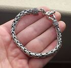 """STERLING SILVER Thick Bali Woven Cable 7-3 4"""" Toggle Bracelet - 39 GRAMS,  L@@K!"""