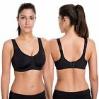 Women's Max Control Solid High Impact Plus Size Underwire Sports Bra