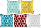 "LYRA MODERN GEOMETRIC CUSHION COVER PRINTED CUSHION COVERS 18"" x 18"""