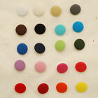 10 Handmade Fabric Covered Buttons - 20 Colours to Choose - 14, 20, 28mm sizes