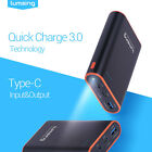 Lumsing 10050mAh USB-C Type-C Portable Charger QC3.0 External Battery Power Bank