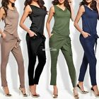 4 Colors LUXURY Ladies pantsuit jumpsuit catsuit suit one piece jumpsuit Gr S0BZ