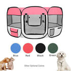 """57"""" Dog Kennel Pet Fence Puppy Soft Oxford Playpen Exercise Pen Folding Crate"""
