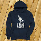 SEA SUN SAIL WINDSURFING SPORTS BEACH OCEAN BOARD Mens Navy Hoodie