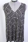 Hourglass Lilly black taupe v neck swing tank top XS/S  S/M or M/L NEW NWT