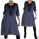 EMPIRE WINTER MOHAIR SPITZE TUNIKA STRICK KLEID LANG PULLOVER 44 46 48 50 52 XL