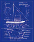 The Vintage Collection YACHT DESIGN contemporary print, PREMIUM QUALITY new