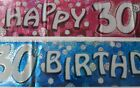 9ft / 2.7m Holographic Happy 30th Birthday Foil Party Banner Decoration Age 30