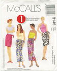 McCalls 3145 Misses 1 Hour Wrap Skirt Sewing Pattern ~ Size 4-14