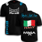 STRYKER CREST FLAG TAP MMA SHORTS SLEEVE T SHIRT TOP UFC OUT BJJ Italian Italy w