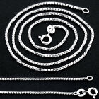 FINE 925 STERLING SILVER BOX CHAIN 18 20 INCH TOP QUALITY WHOLESALE PRICE CH5
