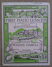SHEET MUSIC & BOOKLETS FOR THE PIANO - BEGINNERS.