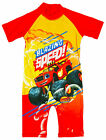 Boys BLAZE Monster Machines All in One Sunsafe Swimsuit Costume 1.5 to 5 Years