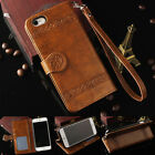 For Iphone 7 7 6 6S Plus Leather Retro Vintage Flip Card Wallet Case Cover Stand