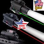 20mm Rail Red/Green Laser Sight+CREE Q5 LED Flashlight Combo For Rifle Scope US