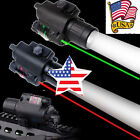 US Tactical Q5 CREE LED Flashlight+Red/Green Laser Sight Combo 20mm Weaver Rail
