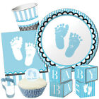 SWEET BABY FEET BLUE Baby Shower Party Range - New Boy Tableware & Decorations