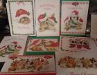 One Ruth Morehead Puppy DOG & Kitty CAT Christmas Greeting Card Very Cute!