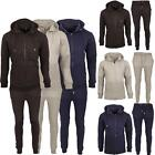 New Mens Hooded Top Bottom Full Sports Jogging Running Warm Tracksuit Set S - XL