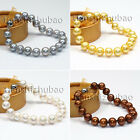 2017 AA 9-10mm 10-11mm White Black Yellow Silver freshwater pearl bracelets