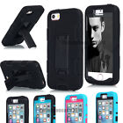 with Kickstand For iPhone 5 5S SE Shockproof Hybrid Rubber Silicone Cover Case