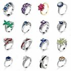 Silver Shinning Jewelry Women Rings Party ring PRINCESS Gift Size 6/7/8/9/10