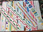 Mrs Grossman's & Sandylion 2x12 Sticker Strips  Design Lines-U Choose One- New.