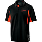 Hammer Men's Reaper Performance Polo Bowling Shirt Black Orange Dri-Fit Comfort