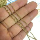 10/50M Real Gold Plated Round Curb Link Stainless Steel Chain 2.2x3.0mm Soldered