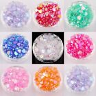 200pcs Beautiful Heart Shaped Acrylic AB color Spacer Beads for Craft 8mm 9mm