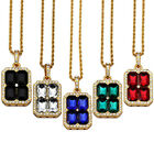 Fashion Women's Rhinestone Crystal Gold Chain Pendant Charm HIPHOP Necklace