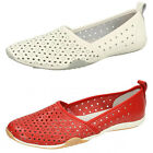 F80206- Ladies Down To Earth Flat Leather Shoes- 2 Colours- Great Price!