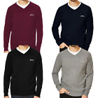 Slazenger Seve Mens Knitted V Neck Golf Casual Pullover Jumper Sweater - Small