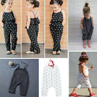 Lovely New Toddler Kids Baby Girls Straps Rompers Jumpsuits Piece Pants Clothing