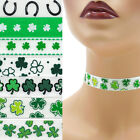 St Patrick's Day Choker 5/8 inch (16 - 17 mm) necklace Shamrocks Lucky Irish +