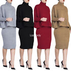 Women Sexy Long Sleeves Round Collar Bodycon Clubwear Party Cocktail Dress 2pcs
