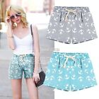 Women's Stretch Casual Cotton Comfy Print Elastic Short Hot Pants Shorts S0BZ